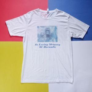 In Loving Memory of Harambe Graphic Memoriam Shirt